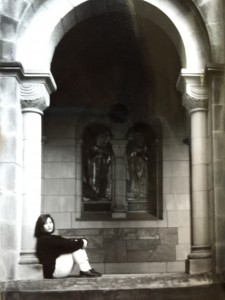 Susan at Vassar, 1990.