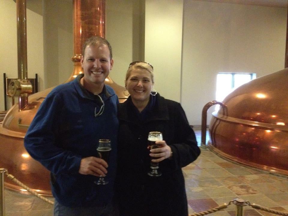Elizabeth and her fiancee Troy enjoying a rare drink.