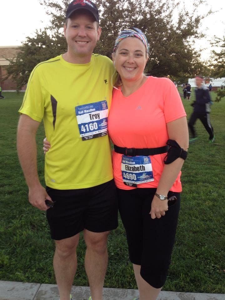 Elizabeth and Troy after running their first marathon.