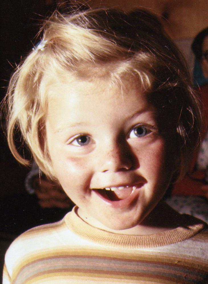 Annie as a little girl.