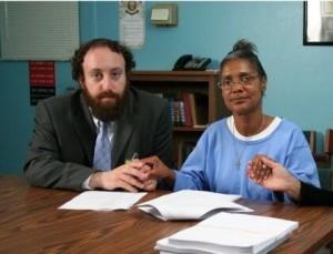 Joshua with Debbie in prison.
