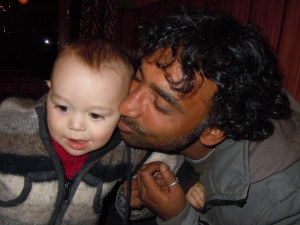Fayaz with Lea's son Oliver