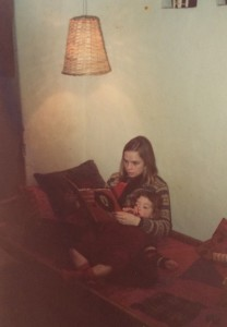 Lea and her mom, back in the '70s