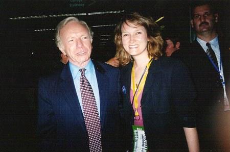Karin with Senator Joe Lieberman