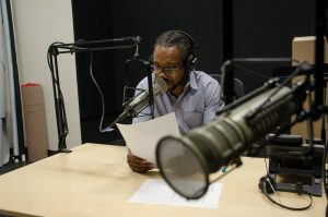 "Al Letson, previously the host of ""State of the Re:Union,"" and now the host of ""Reveal."""